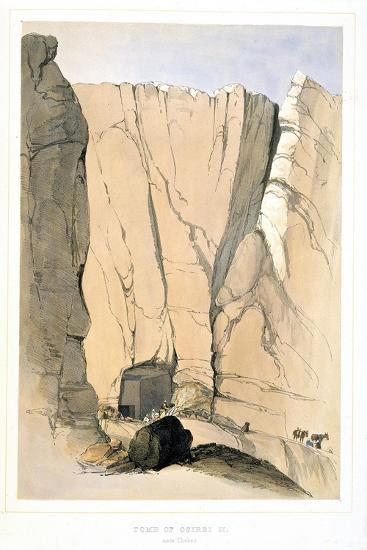 Entrance to a Tomb in the Valley of the Kings Near Thebes, Egypt, 1855-Lord Wharncliffe-Giclee Print