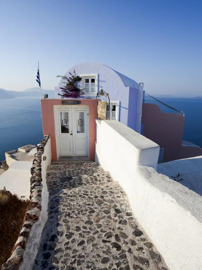 Entrance to a Typical Village House in Oia, Santorini (Thira), Cyclades Islands, Greece-Gavin Hellier-Photographic Print