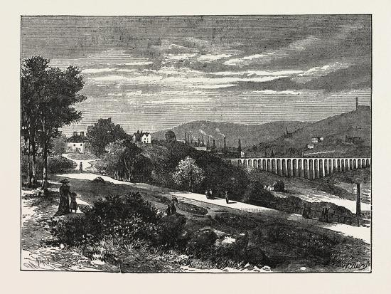 Entrance to Beaumont Park from the Town, Huddersfield, UK, 1883--Giclee Print