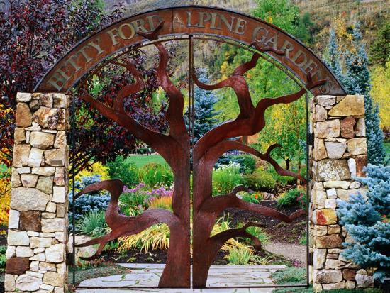 Entrance to Betty Ford Alpine Gardens, Vail, Colorado-Holger Leue-Photographic Print