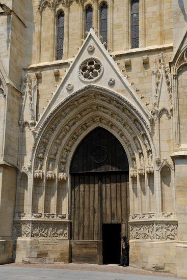 Entrance to Cathedrale Saint Andre, Bordeaux, UNESCO Site, Gironde, Aquitaine, France-Peter Richardson-Photographic Print