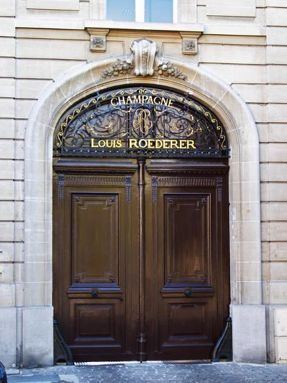 Entrance to Champagne Louis Roederer, Reims, Champagne, Marne, Ardennes, France-Per Karlsson-Photographic Print
