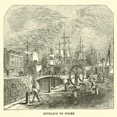 Entrance to Docks--Giclee Print