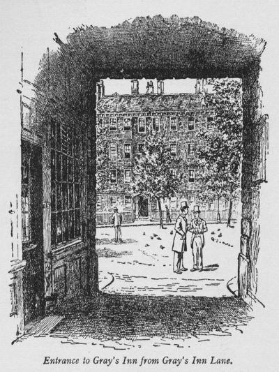 Entrance to Grays Inn from Grays Inn Lane, C1918--Giclee Print
