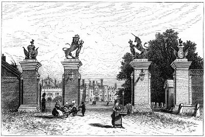 Entrance to Hampton Court Palace, 1880-Robert Taylor Pritchett-Giclee Print