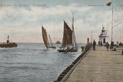 Entrance to Harbour, Yarmouth--Photographic Print