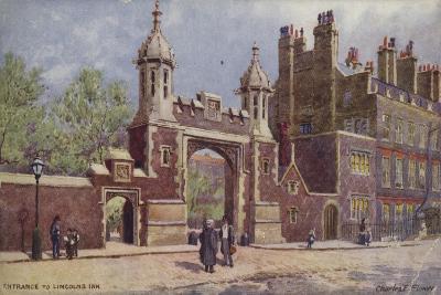 Entrance to Lincoln's Inn, London-Charles Edwin Flower-Giclee Print