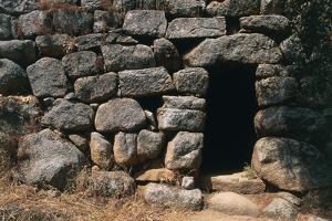 Entrance to Nuraghe Albucciu, 14th-10th Century Bc, Near Arzachena, Sardinia, Italy