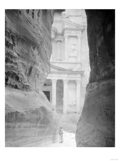 Entrance to Petra, Jordan Photograph - Petra, Jordan-Lantern Press-Art Print