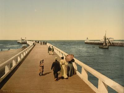 Entrance to Port, Ostend, Belgium; C.1890-C.1900--Giclee Print