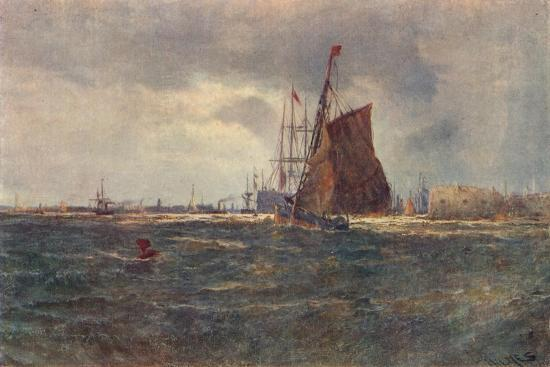 'Entrance to Portsmouth Harbour', late 19th Century (1906)-Unknown-Giclee Print