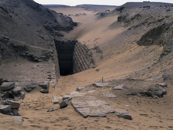 Entrance to Step Pyramid of Sekhemkhet, Saqqara--Photographic Print