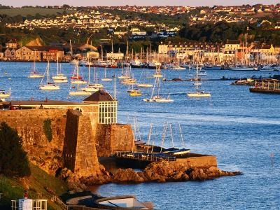 Entrance to Sutton Harbour at Sunset, Plymouth, England-David Tomlinson-Photographic Print