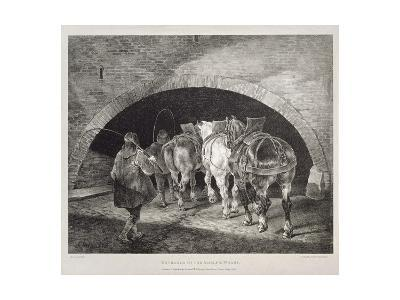 Entrance to the Adelphi Wharf, Lithograph by Charles-Joseph Hullmandel, 1821-Theodore Gericault-Giclee Print
