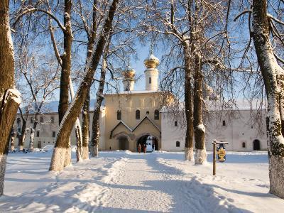 Entrance to the Bogorodichno-Uspenskij Monastery, Tikhvin, Leningrad Region, Russia-Nadia Isakova-Photographic Print