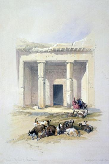 Entrance to the Cave of Beni Hassan, 19th Century-David Roberts-Giclee Print