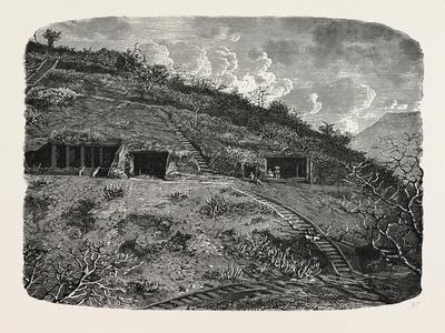 Entrance to the Cave-Temples of Kanhari, Isle of Salsette--Giclee Print