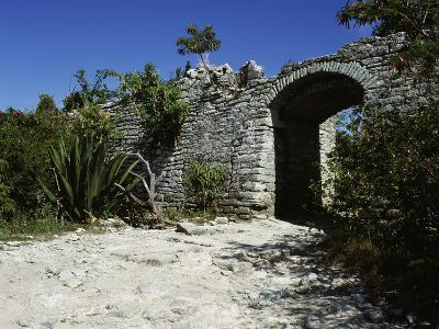 Entrance to the Church, Fort Seope, Antigua--Photographic Print
