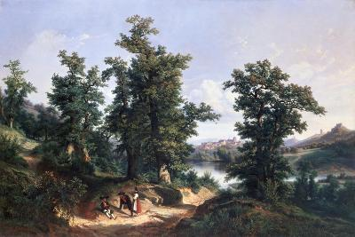 Entrance to the Forest of Saverne, 1838-Edouard Jean Marie Hostein-Giclee Print