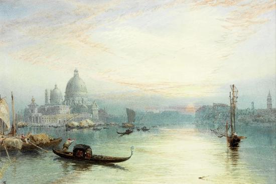 Entrance to the Grand Canal, Venice-Myles Birket Foster-Giclee Print