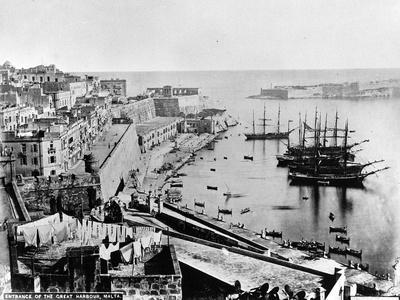 Entrance to the Great Harbour, Malta, C.1880--Photographic Print