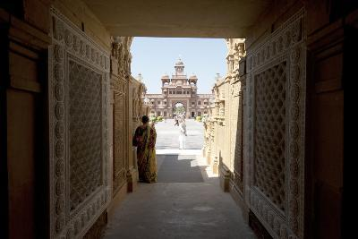 Entrance to the Jain Swaminarayan Temple, Gondal, Gujarat, India, Asia-Annie Owen-Photographic Print