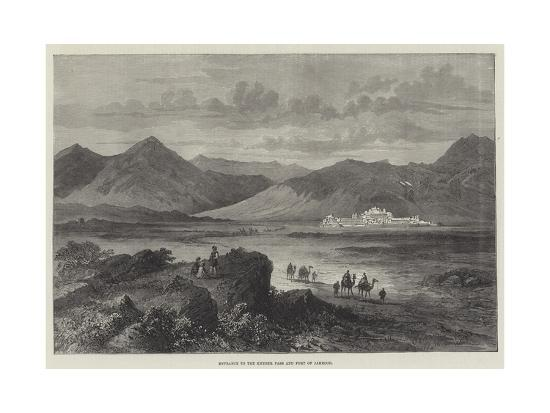 Entrance to the Khyber Pass and Fort of Jamrood--Giclee Print