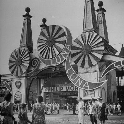 Entrance to the Luna Amusement Pavilion at Coney Island Amusement Park-Marie Hansen-Photographic Print
