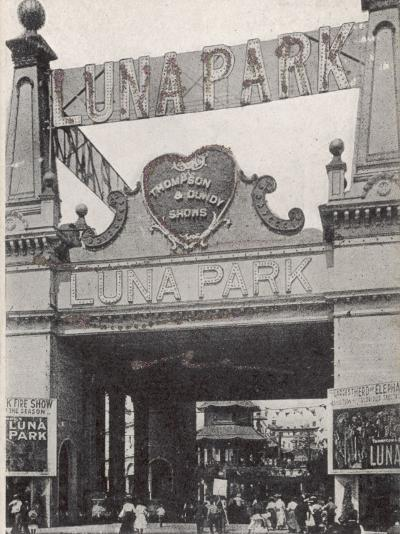 Entrance to the Luna Park on Coney Island, New York, America--Photographic Print