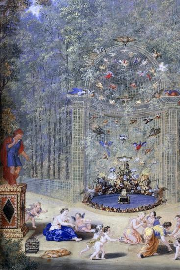 Entrance to the Maze at Versailles, 1693-Jean, the younger Cotelle-Giclee Print