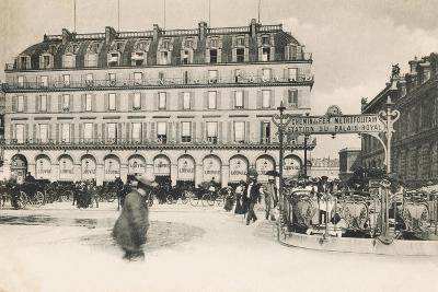 Entrance to the Metro Station, Place Du Palais Royal, Paris, 1903--Giclee Print