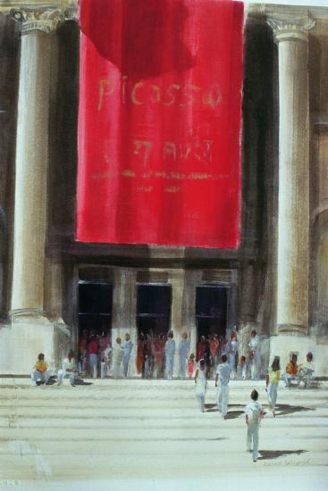 Entrance to the Metropolitan Museum, New York City, 1990-Lincoln Seligman-Giclee Print