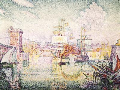 Entrance to the Port of Marseille-Paul Signac-Art Print