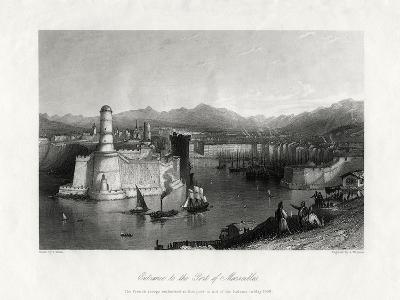 Entrance to the Port of Marseilles, France, 1875-A Willmore-Giclee Print
