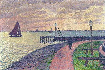 Entrance to the Port of Volendam-Th?o van Rysselberghe-Giclee Print