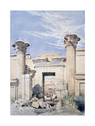Entrance to the Temple of Ramses Iii, Egypt, 19th Century-GF Weston-Giclee Print