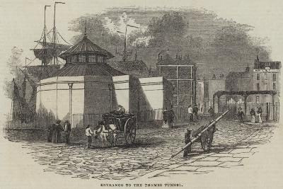 Entrance to the Thames Tunnel--Giclee Print