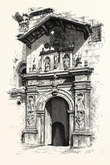 Entrance to the Tomb of Ferdinand and Isabella--Giclee Print
