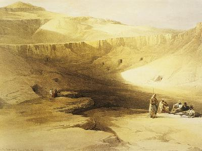 Entrance to the Valley of the Kings, Biban El Muluk, Egypt, Lithograph, 1838-9-David Roberts-Giclee Print