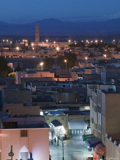 Entrance to Town Souk, Ouarzazate, Atlas Mountains, Morocco, North Africa-Walter Bibikow-Photographic Print
