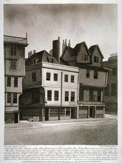 Entrances to Little Sanctuary and Thieving Lane, Westminster, London, 1807-William Fellows-Giclee Print
