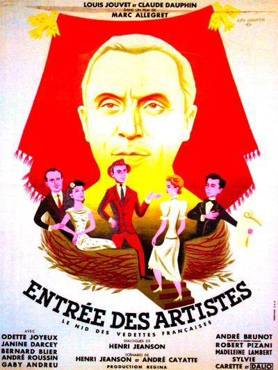 ENTREE DES ARTISTES, (aka THE CURTAIN RISES), French poster art, top: Louis Jouvet, 1938--Art Print