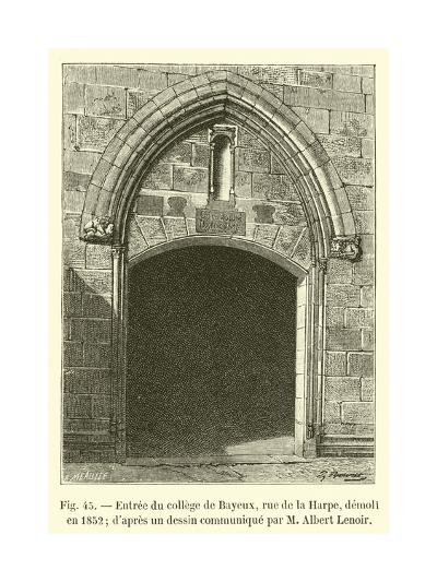 Entree Du College De Bayeux--Giclee Print