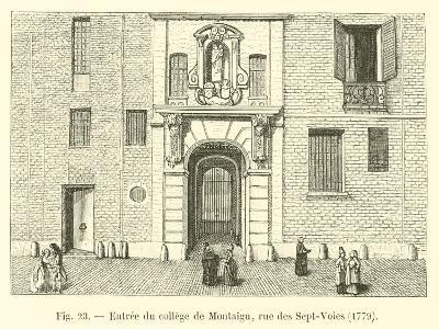 Entree Du College De Montaigu, Rue Des Sept-Voies, 1779--Giclee Print