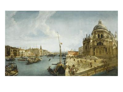 Entrée du Grand Canal et l'église de la Salute à Venise-Michele Marieschi-Giclee Print