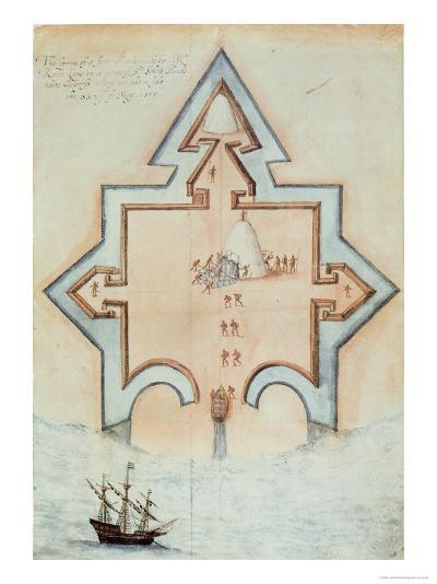 Entrenchments, Puerto Rico-John White-Giclee Print