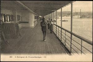 Entrepont Du Transatlantique, Dampfschiff, Promenade