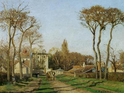 Entry into the Village of Voisins (Yvelines), 1872-Camille Pissarro-Giclee Print
