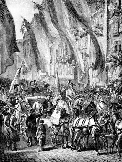 Entry of Archduke John of Austria into Frankfurt, Germany, 11 July 1848--Giclee Print