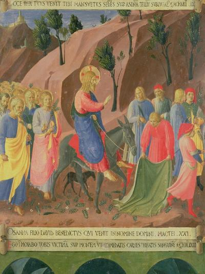 Entry of Christ into Jerusalem, Detail from Panel Three-Fra Angelico-Giclee Print